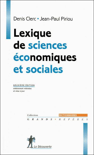 Lexique de sciences économiques et sociales (9ème éd.)