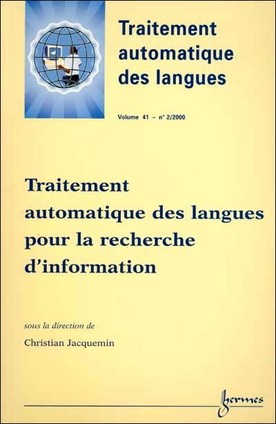 Traitement automatique des langues pour la recherche d'information