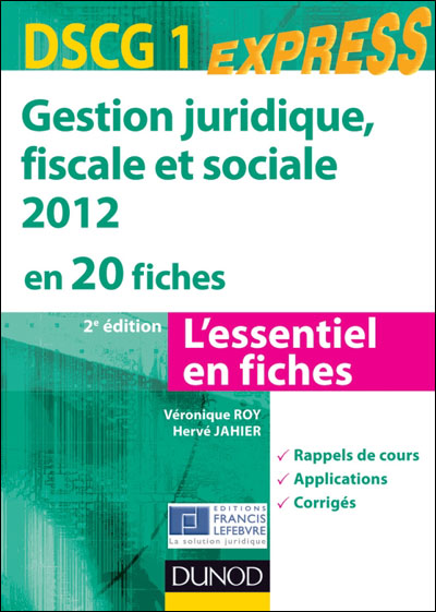 Gestion juridique, sociale et fiscale