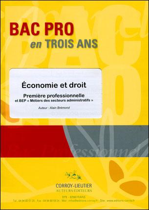 Bac pro 1ère professionnelle économie-droit