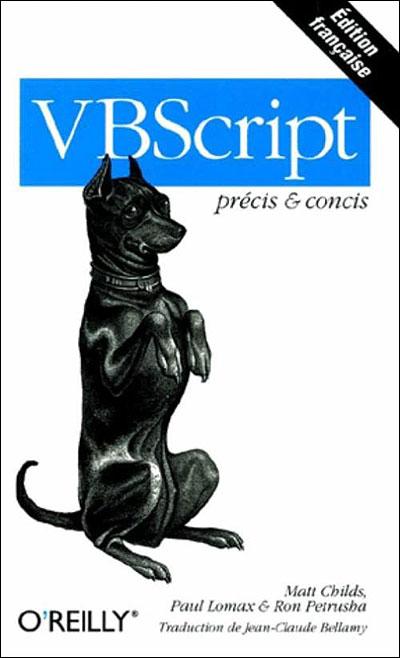 VBScript Pr Cis Et Concis Poche Mark C Childs P Lomax Achat