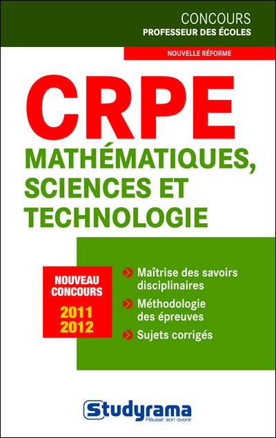 CRPE : Mathématiques et Sciences, nouveau concours