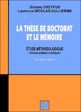 La thèse de doctorat et le mémoire