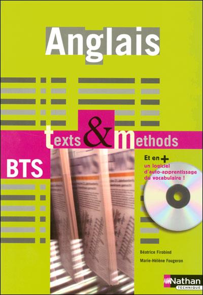 Anglais bts texts methods +cd