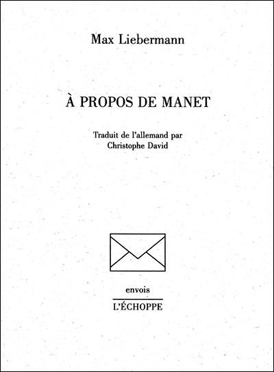 A propos de Manet