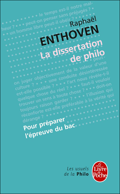 la dissertation de philo poche rapha l enthoven achat livre fnac. Black Bedroom Furniture Sets. Home Design Ideas