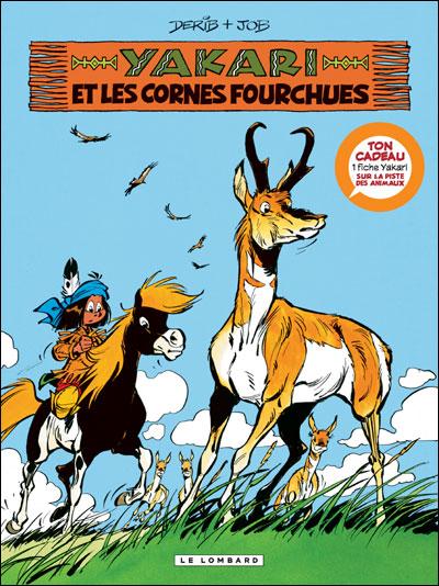 Yakari - Avec une fiche animal Tome 23 : Yakari et les cornes fourchues