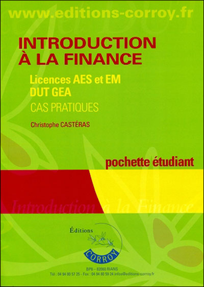 Introduction à la finance,  licences AES et EM, DUT GEA