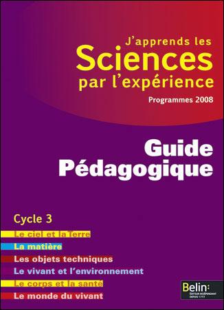 J'apprends les sciences par l'expérience, Cycle 3