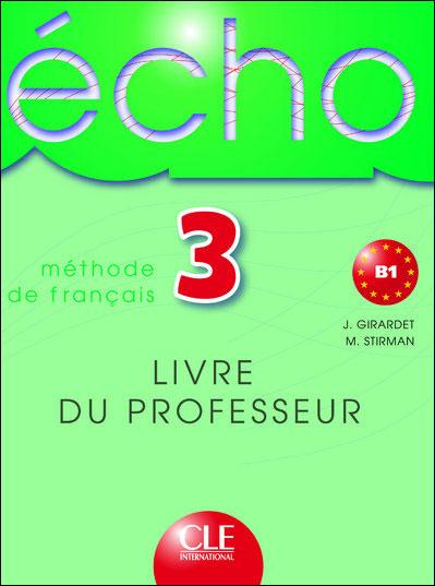 Echo niveau 3 professeur