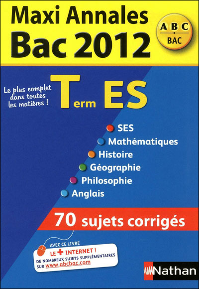 Maxi annales bac 2012 term es