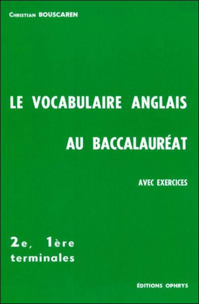 Le Vocabulaire anglais au baccalauréat