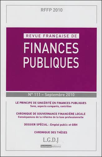 Principe de sincérité en finances publiques