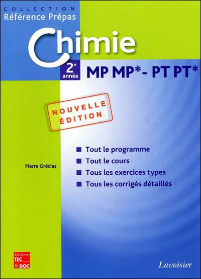 Chimie MP MP*-PT PT* 2de année
