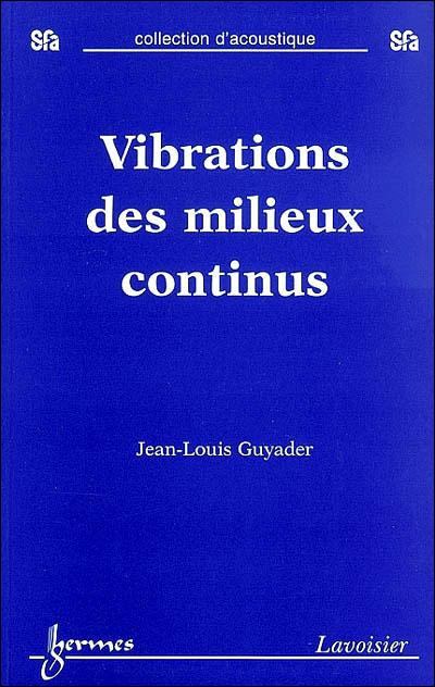 Vibration des milieux continus