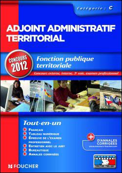 Adjoint administratif territorial Catégorie C Concours 2012