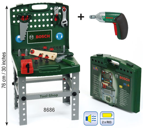Klein Etabli pliable Bosch Tool Shop avec visseusedévisseuse Ixolino