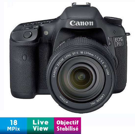 Reflex Canon EOS 7D + Obj. Canon EF-S IS 18 -135 mm f/3.5 - 5.6