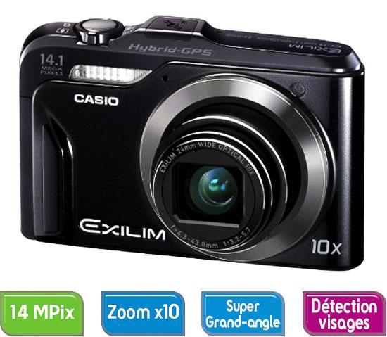 Casio Exilim EX H20G Noir GPS intégré