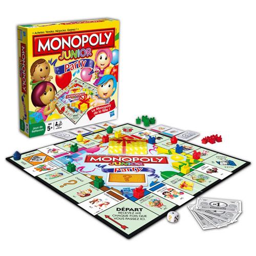 Le Monopoly de la fête pour les petits ! Propriétés sur le thème de la fête et pions rigolos !