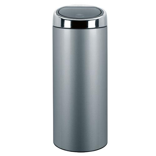 Brabantia - 287404 - Poubelle - Touch Bin 30 litres - Metallic Grey