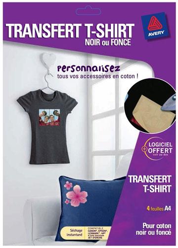 Avery transferts T-Shirt noir - Papier pour