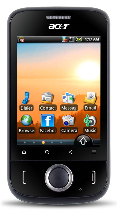 Acer beTouch E110 sous Android