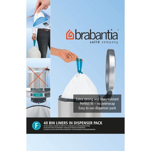 Brabantia - 375644 - Sacs Poubelle - 20 litres - Blanc