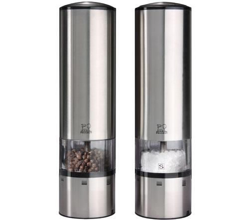 Peugeot - Duo de moulins à poivre et à sel électiques en inox u'Select 20 cm