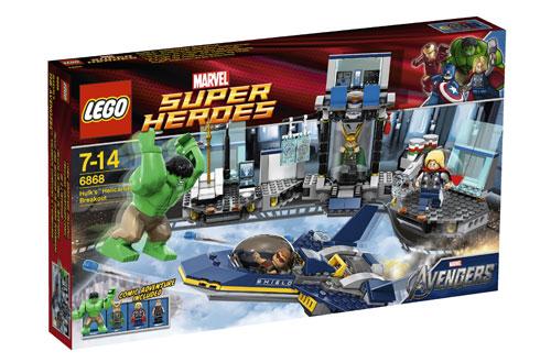 LEGO® Super Heroes Marvel 6868 L'évasion en héliporteur de Hulk