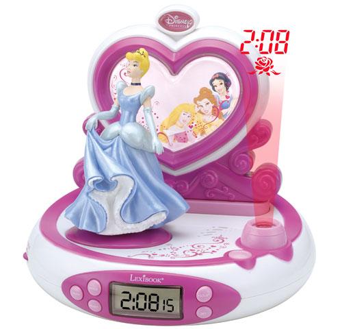 Lexibook Reveil Projecteur Disney Princess avec radio