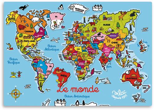 Carte Du Monde Zoomee.Vilac Carte Du Monde Magnetique 98 Pcs