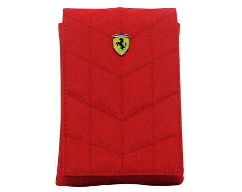 Etui Ferrari POUCHFLAPR à rabat velcro rouge