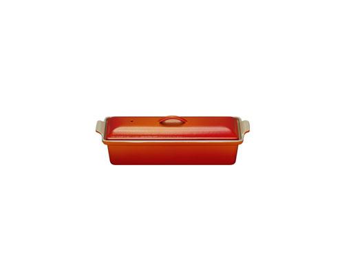 Le Creuset - 91008428064000 - Les Céramiques - Terrine Rectangulaire - Cerise - 28 cm
