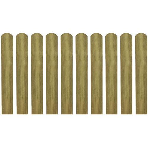 20 pcs Lattes imprégnées de clôture Bois 60 cm