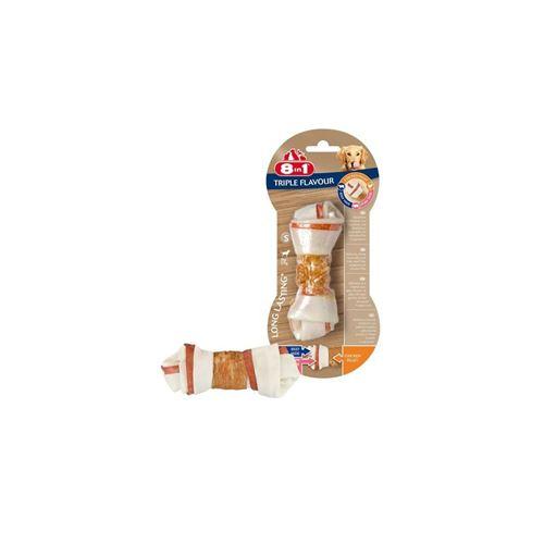 8in1 Triple Flavour Os A Macher Premium S Aux Boeuf, Porc, Poulet - Pour Chien De Petite Taille - 1 Piece