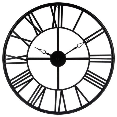 Horloge chiffres romains vintage 70 cm noir