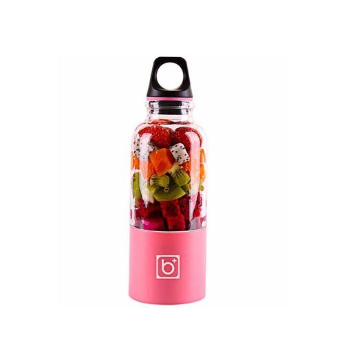 Juicer Blender Portable 500 Ml Électrique Rechargeable Avec USB Chargeur Câble Pour Fruits Légumes Rose