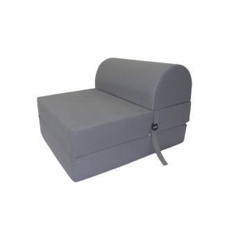énorme réduction 35943 267bf JUNE Chauffeuse 1 place - Tissu gris - Style contemporain - L 58 x P 75 cm