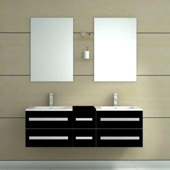 Meuble salle de bain double vasque - Noir