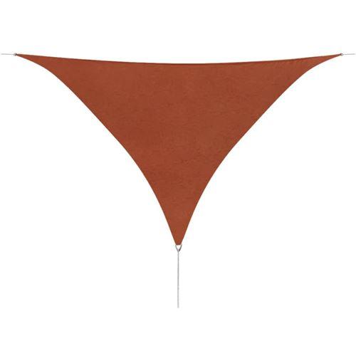Parasol de jardin en tissu Oxford triangulaire 5x5x5m marron