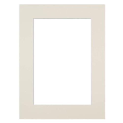 Passe-partout blanc cassé 30x40 cm ouverture 20x27 cm, Carton - marque française