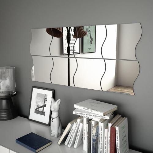 Miroir Mural Miroirs en verre Miroir Décoration pour Salon miroir Salle de Bains 8 PCS 20 x 20 cm