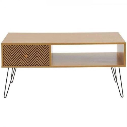 Basse Decor 50 L 100 Imprime Et Table Vintage X Cm Chene Igor ALq45jR3