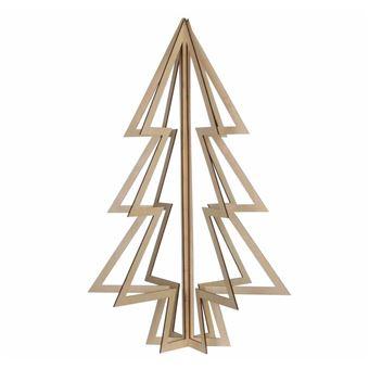 Arbre En Bois Deco.L Heritier Du Temps Sapin De Noel 3d Deco Magnifique Arbre Article De Decoration A Poser En Bois 38x38x60cm