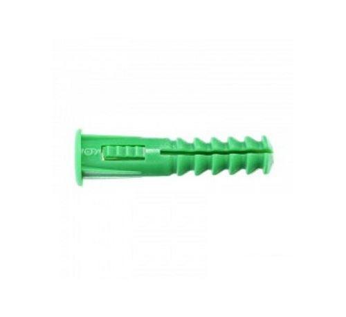 Cheville RC6 verte avec collerette - Seau de 1000
