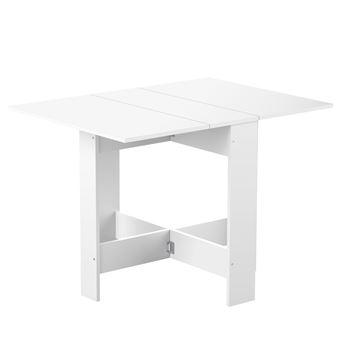 Table A Manger Pliante En Bois 3 Positions Astucea Blanc