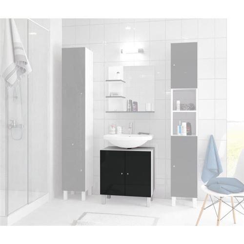 Corail Meuble Sous-lavabo L 60 Cm - Noir Laque