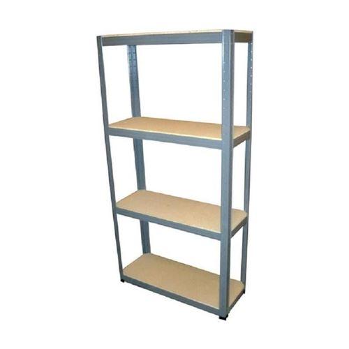 sodiac étagere bois-acier 4 tablettes - acier laqué - charge : 60 kg - 150 x 73 x 27 cm