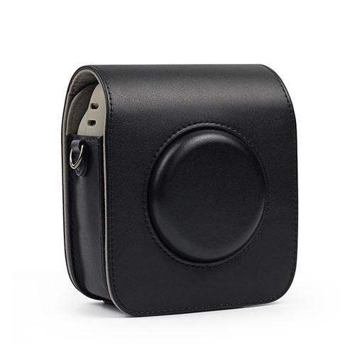 Étui de protection en cuir PU pour Fujifilm Instax Square 20 - Noir